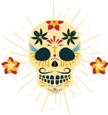 Ícone Caveira Mexicana