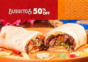 Terça-feira Burrito 50% OFF