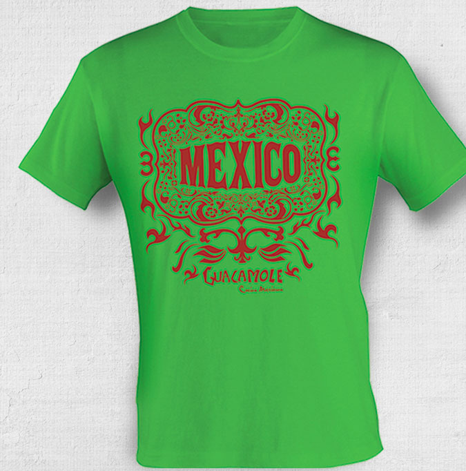 Camiseta com estampa mexicana