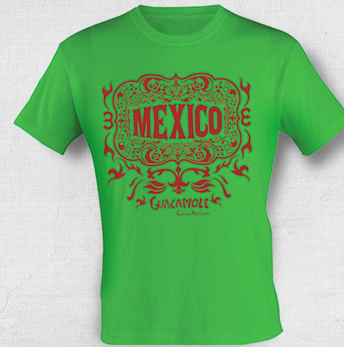 Camiseta com estampa mexicana